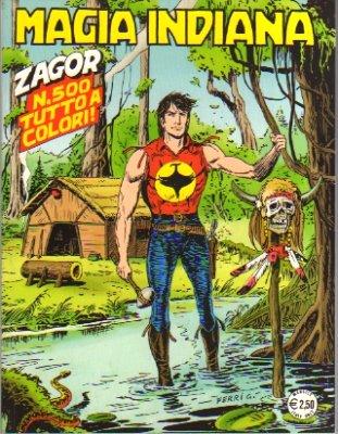 Zagor numero 500 magia indiana edicola fumetti for Numero dei parlamentari italiani