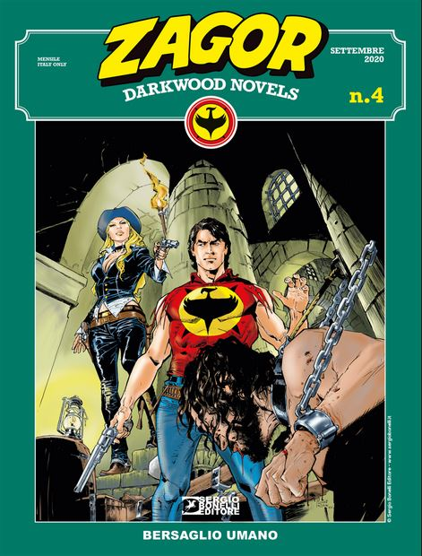 copertina Zagor Darkwood Novels 4 di Michele Rubini