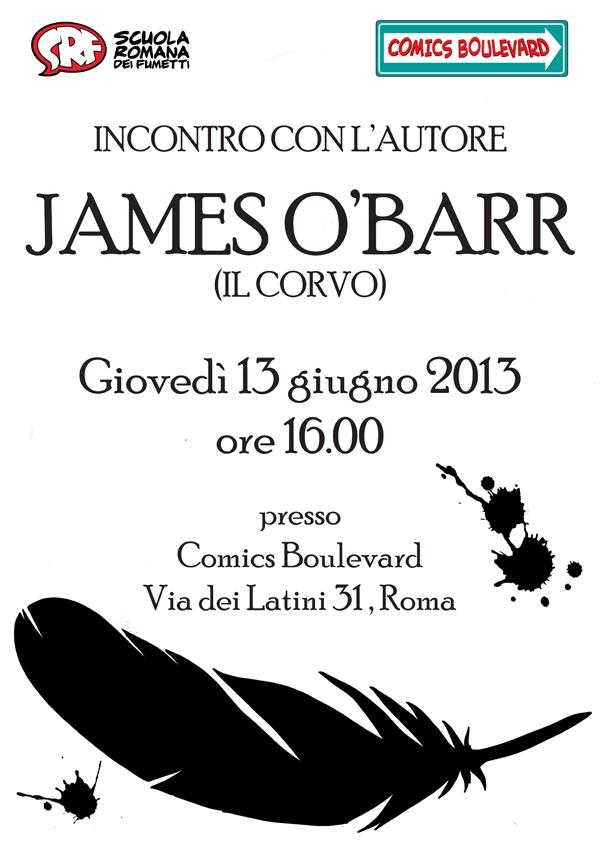 Il prossimo ospite di Comics Boulevard sarà James O Barr