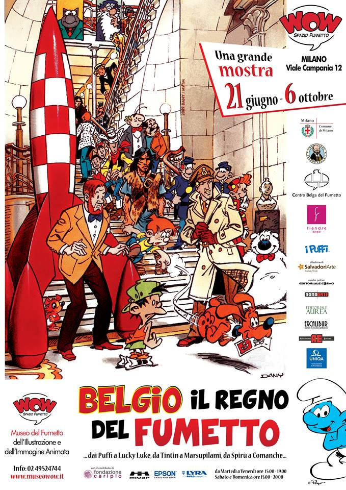 manifesto della mostra BELGIO IL REGNO DEL FUMETTO