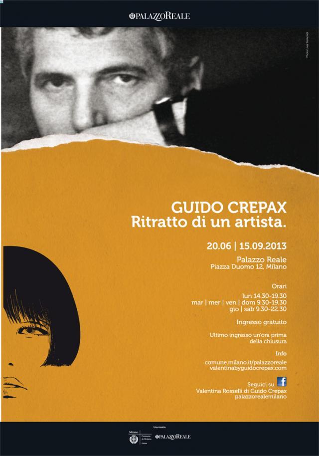 manifesto GUIDO CREPAX  ritratto di un artista