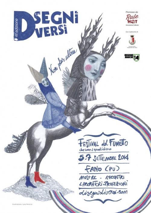 manifesto del festival Disegni Diversi