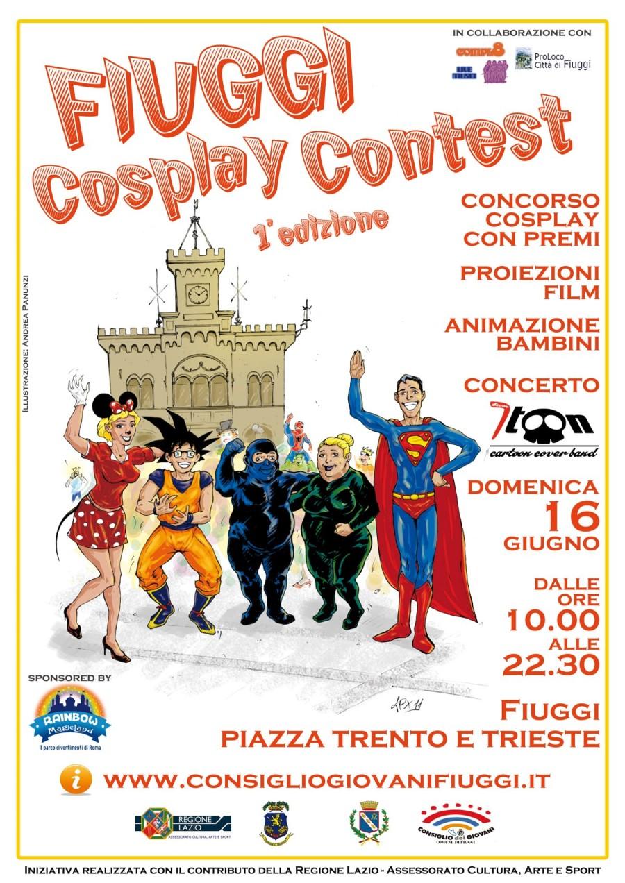 manifesto del Fiuggi cosplay contest