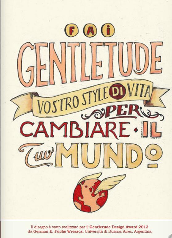 manifesto realizzato per il Gentletude Award 2012