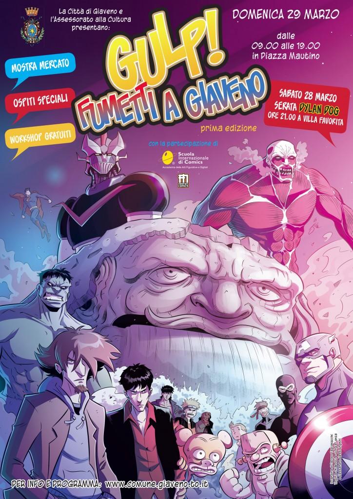 manifesto GULP! Fumetti a Giaveno