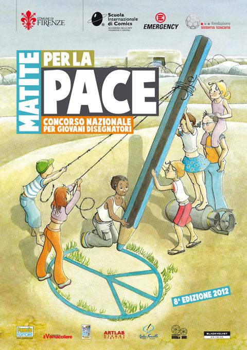 volantino concorso matite per la pace