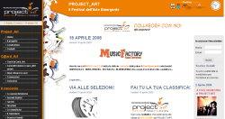 immagine del sito  project art