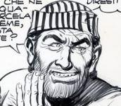 Johnny Mackett, disegno di Gallieno Ferri