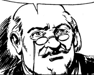Professor Kenneth, disegno di Gallieno Ferri