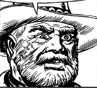 One Eyed Jack prima apparizione, disegno di Gallieno Ferri