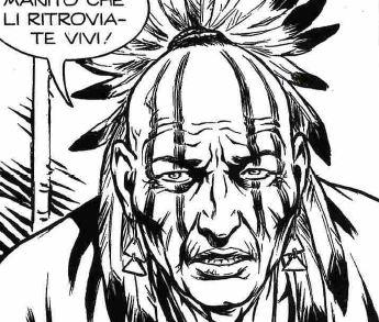 Sciamano Mohawk, disegno di Paolo Bisi